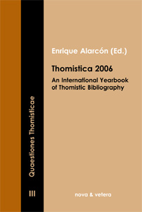 Thomistica 2006 - An International Yearbook of Thomistic Bibliography